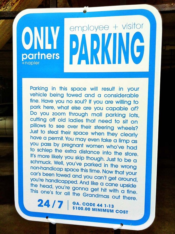 Parking Notice 3 blue