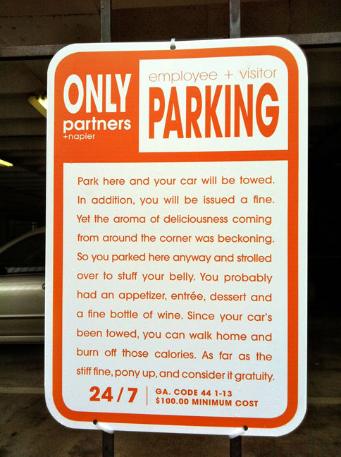 Parking Notice food