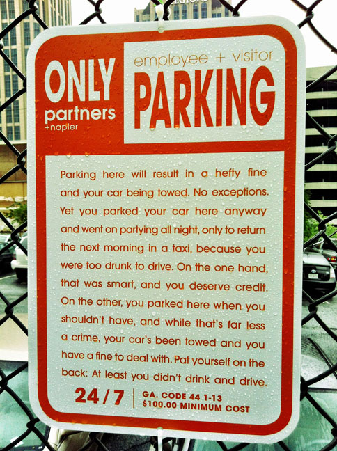 Parking Notice drunk
