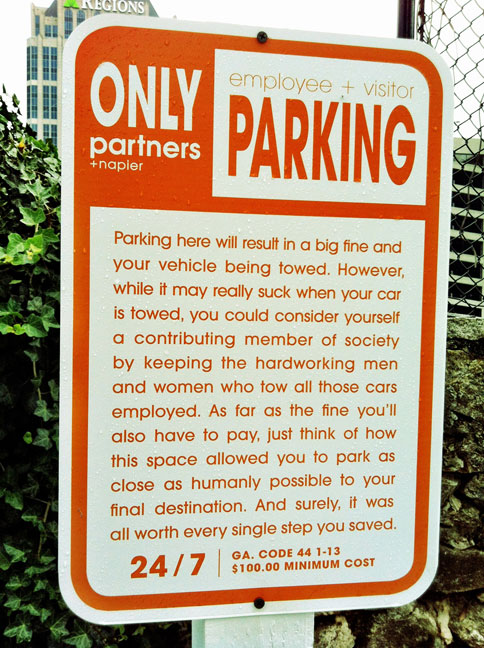 Parking Notice employed