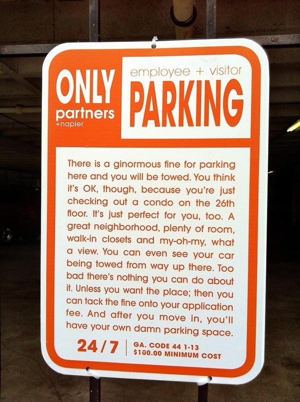 Parking Notice condo