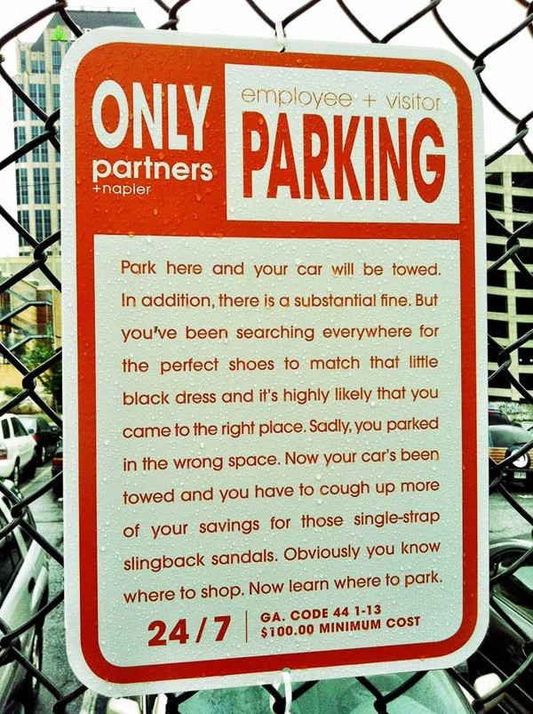 Parking Notice shopping